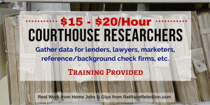 $15 - $20/hour Working as a Courthouse Researcher