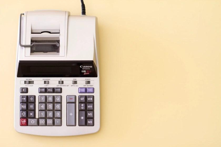 An electronic calculator