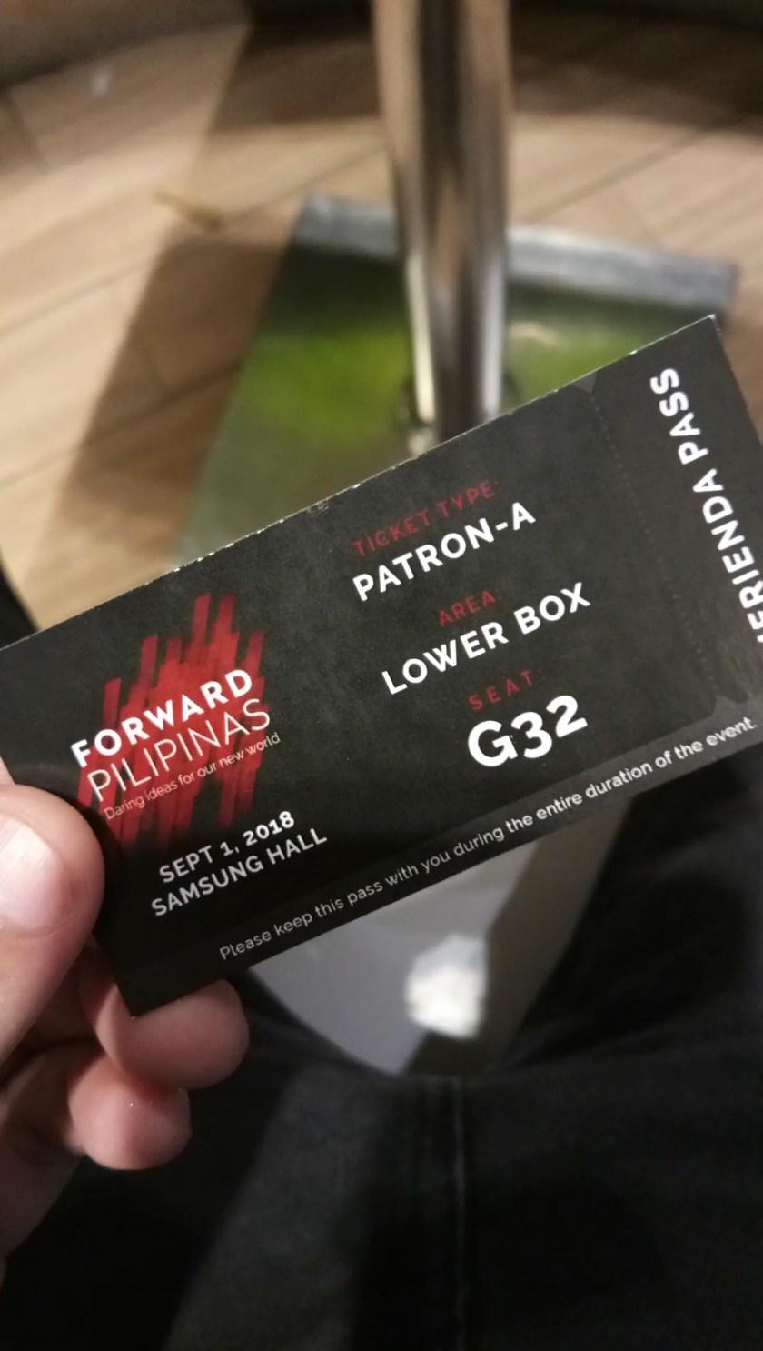 Ticket Pass in Forward Pilipinas