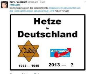 Tweet von Rainer Lanzerath
