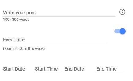 add event google posts