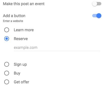 add button google posts