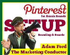 pinterest setup page service australia