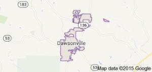 dawsonville city map