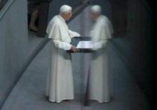 Pope Benedict XVI gives a speech to the German Bundestag in Berlin