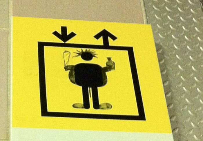 Aufzugs-Piktogram