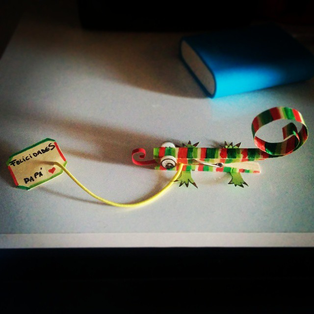 Mi camaleón es el más especial... ¡Del mundo mundial! #FelizdiadelPadre