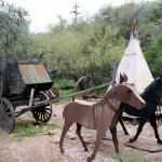 stagecoach display at Tortilla Flat, Arizona on Apache Trail