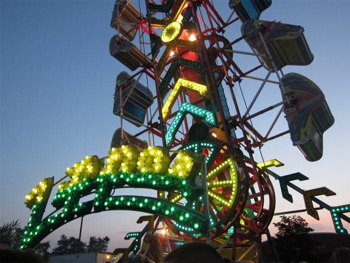 Zipper carnival ride at Algonac Pickerel Tournament