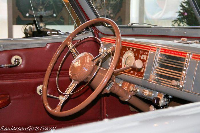 1939 Plymouth P8 Deluxe Convertible interior