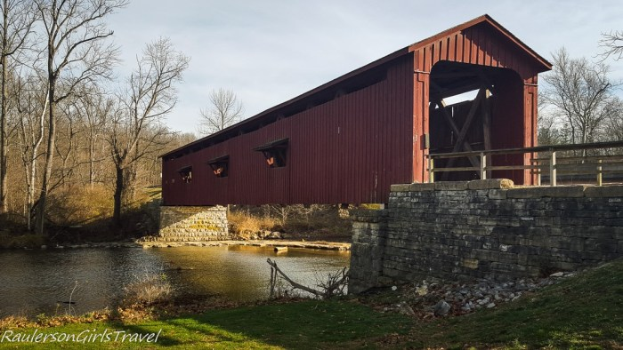 Covered Bridge at Cataract Falls in Indiana
