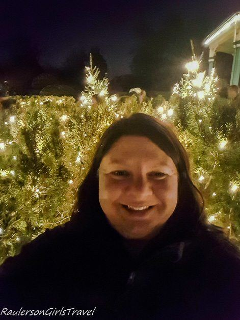 Selfie taken at Garden Glow at Missouri Botanical Gardens