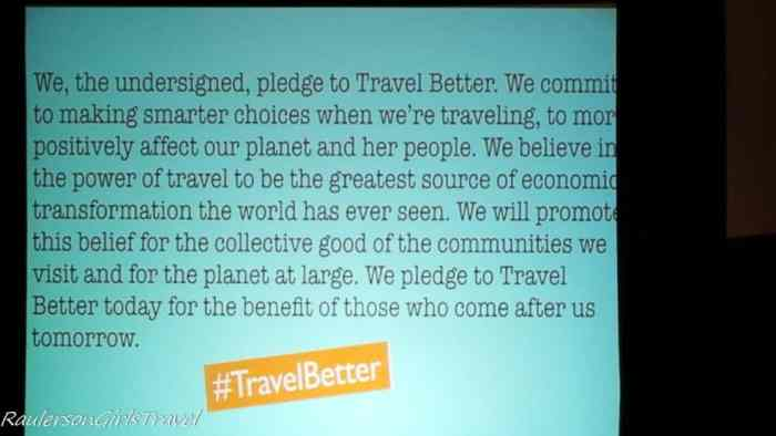 Travel Better Pledge at TBEX Huntsville Alabama