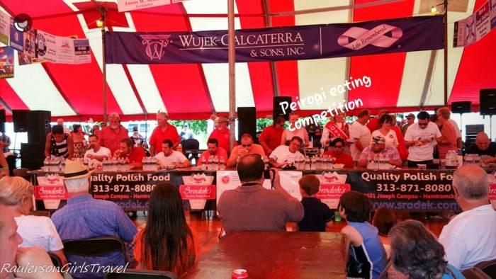 Pierogi eating competition at American Polish Festival