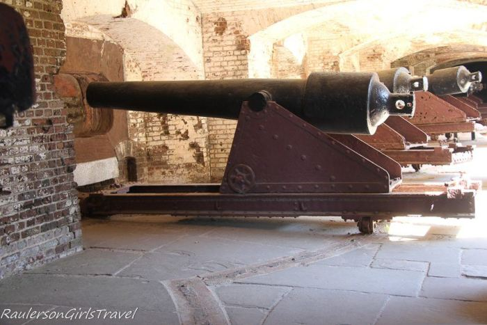 Guns in the Left-face Casement at Fort Sumter