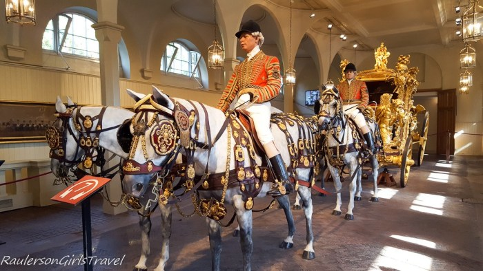 Gold State Coach in the Royal Mews of Buckingham Palace