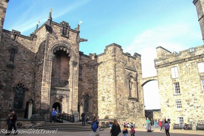 Great Hall and Crown Square in Edinburgh Castle