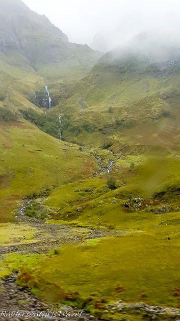 waterfall in the Glencoe Mountains