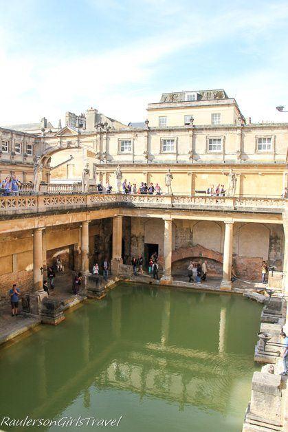 Great Bath at the Roman Baths in Bath, England