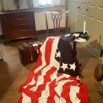 Inside of Betsy Ross' house with the American Flag