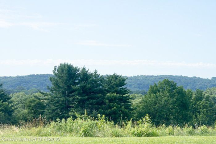 View of landscape from Valley Forge