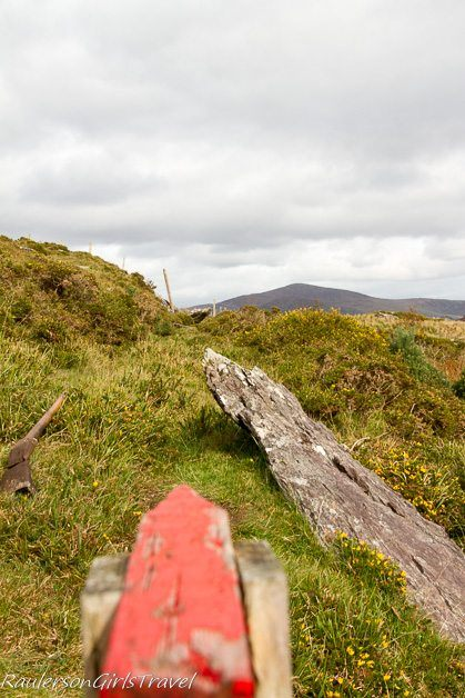 Neolithic Stone Row - ancient sun calendar of the druids at Molly Gallivan's farm