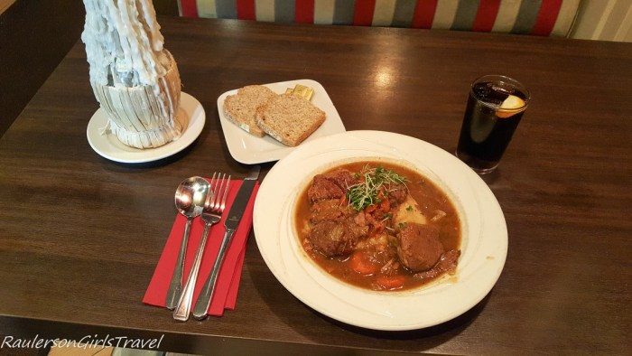 Beef Irish Stew cooked in Guinness at Salvadors Killarney Ireland