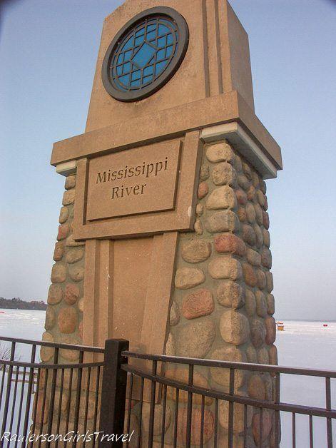 Marker in Bemidji for the Mississippi River