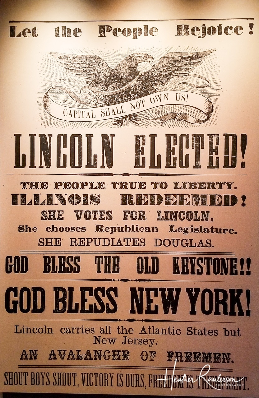 Newspaper announcing Lincoln Elected as President