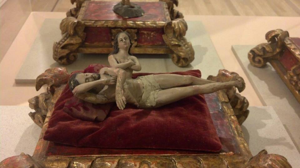 Representación de «El sueño de Adán», en la que Eva es extraída de una de sus costillas. Museo Soumaya, foto: Raúl Valencia Ruiz.