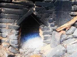 Este es el horno desde donde se hace la destilación