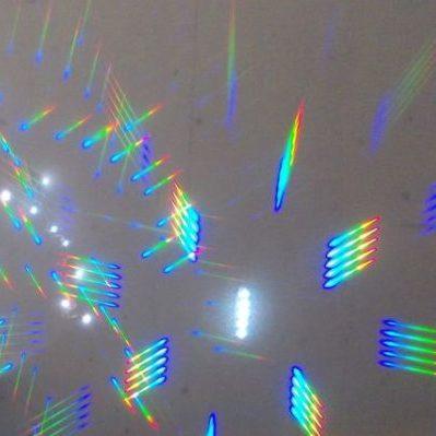 Die Lämpchen durch den Regenbogengucker
