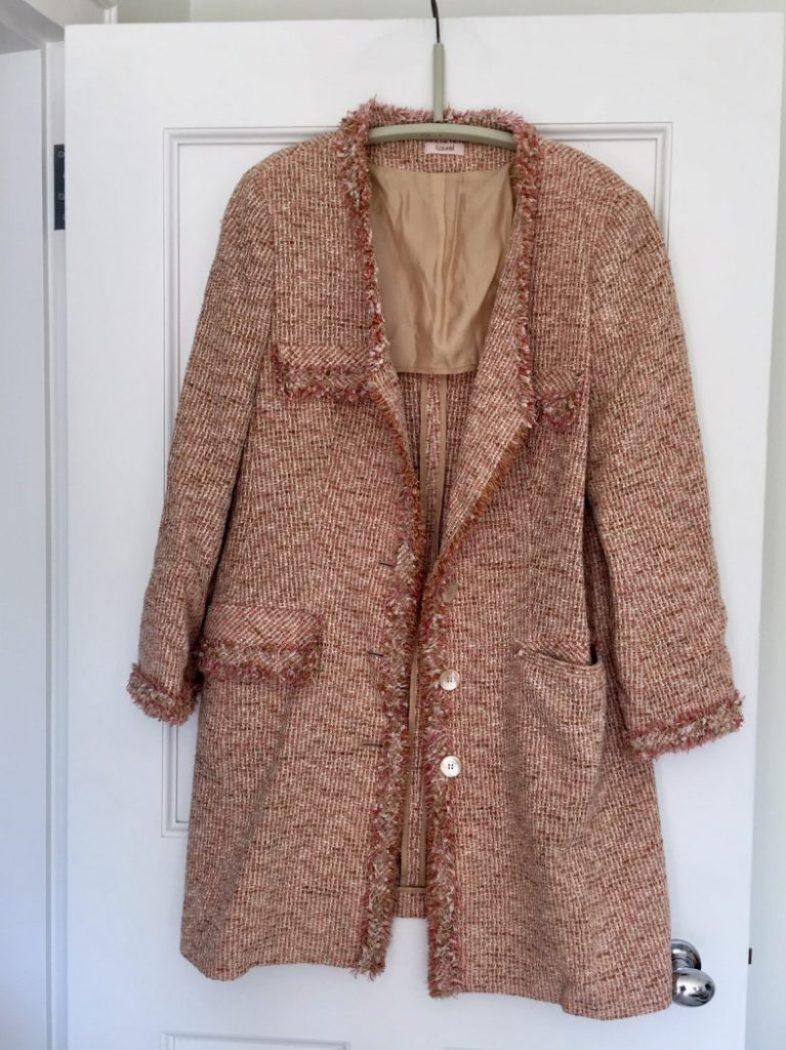 Mantel für die freundin mit stofffarbe schön gemacht