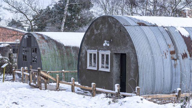 Nissenhütte im Schnee