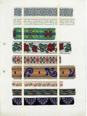 Bänder mit unterschiedlichen Mustern