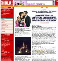 Om bryllupet i spansk presse