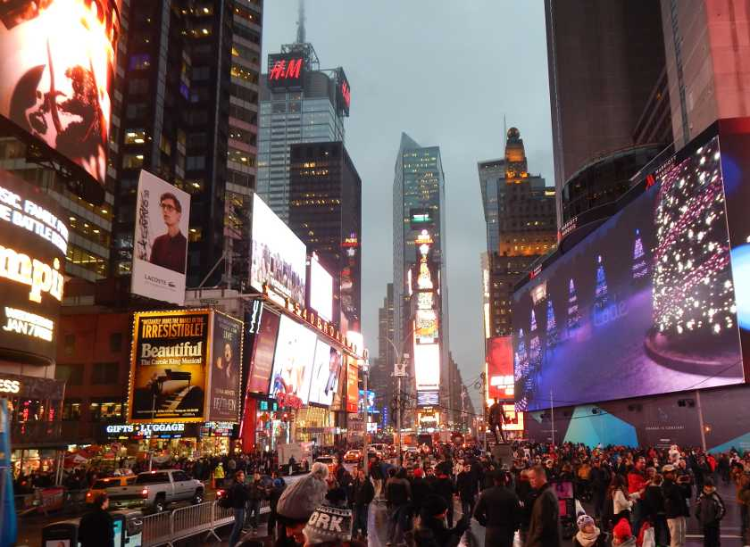 Glücklich in New York