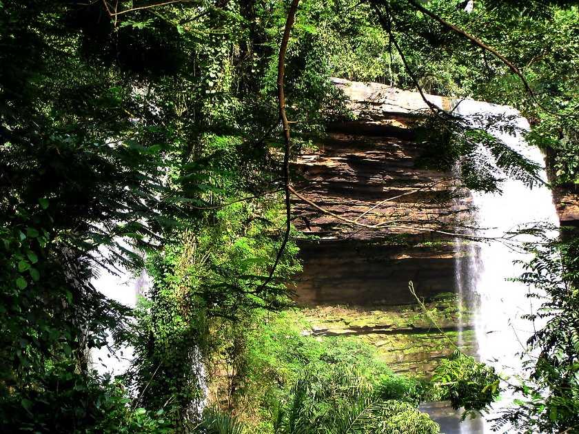 Boti Falls in Ghana