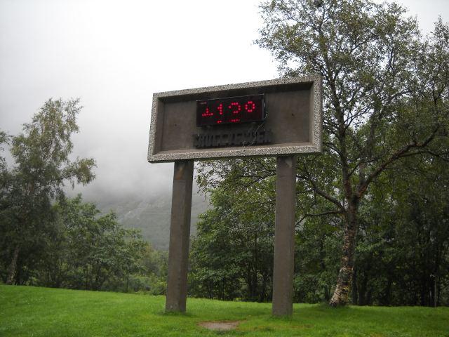 Temperatur am Trollveggen Norwegen Andalsnes