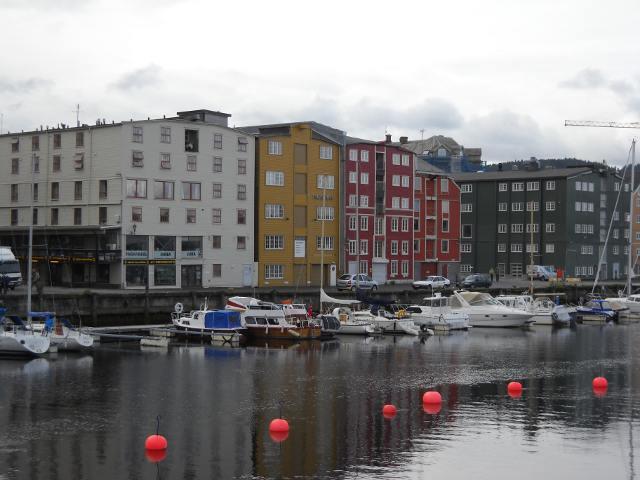 Trondheim Häuser am Bahnhof
