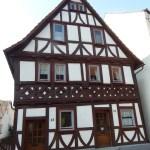 Schräge Balken am Fachwerk in Laubach