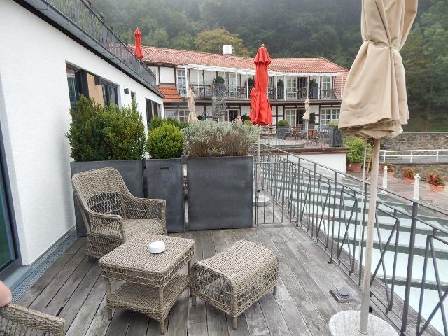 Unser Balkon im Burghotel Hardenberg