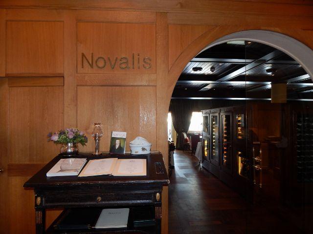 Eingang zum Gourmet-Restaurant Novalis Hardenberg