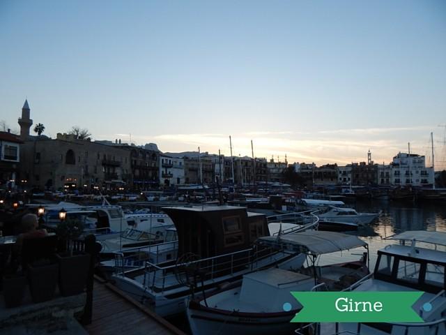 Abendstimmung am Hafen von Girne Nordzypern