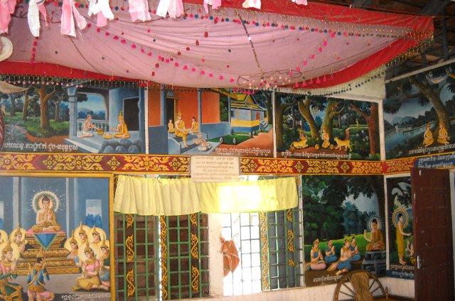 Ochsenkarrentour in Kampong Tralach Tempel