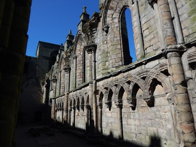 Reste der Abtei Holyrood Palace