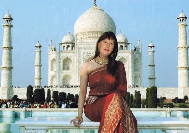 Selfie vor dem Tadsch Mahal