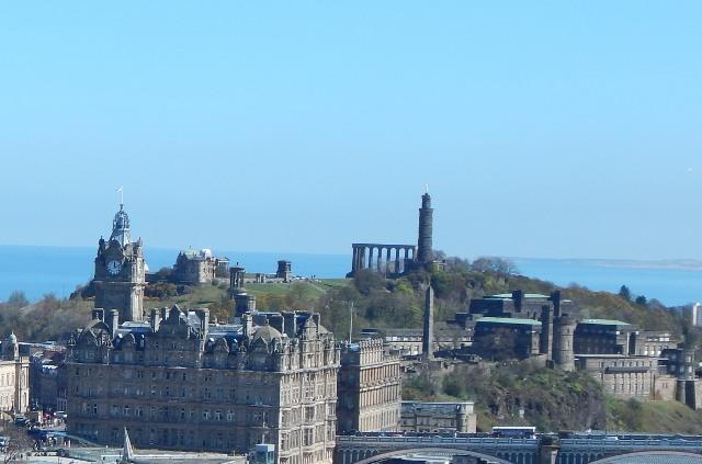 Calton Hill kostenlos Edinburgh Aussicht