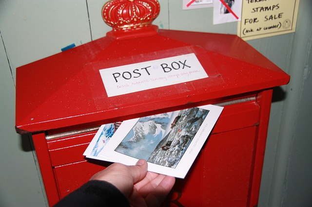 Briefkasten, Ansichtskarte aus aller Welt verschicken
