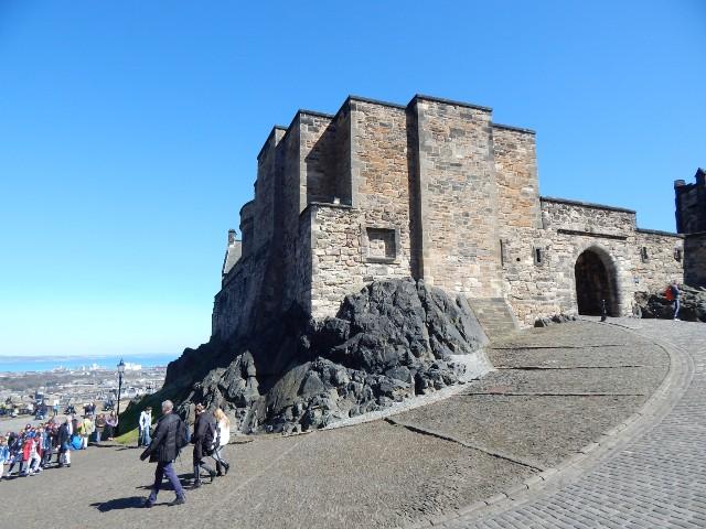 Aufstieg zur Burg von Edinburgh